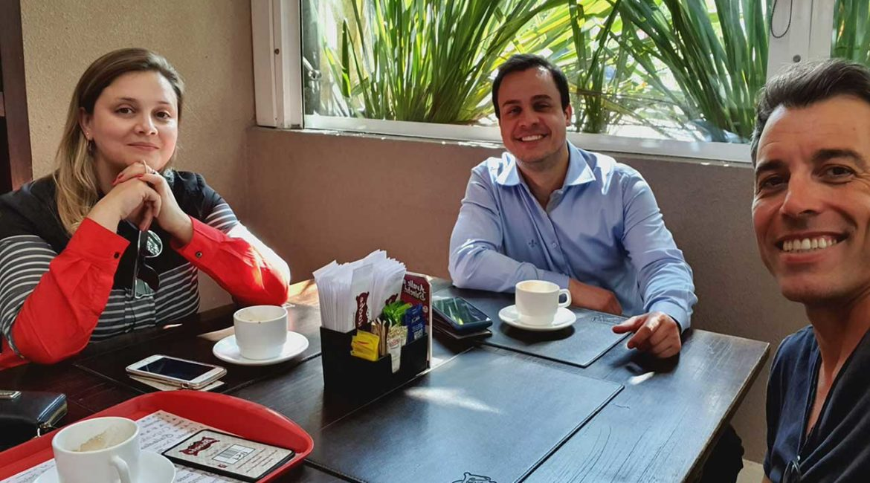 Reunião com Marc Sousa Jovem Pan Curitiba